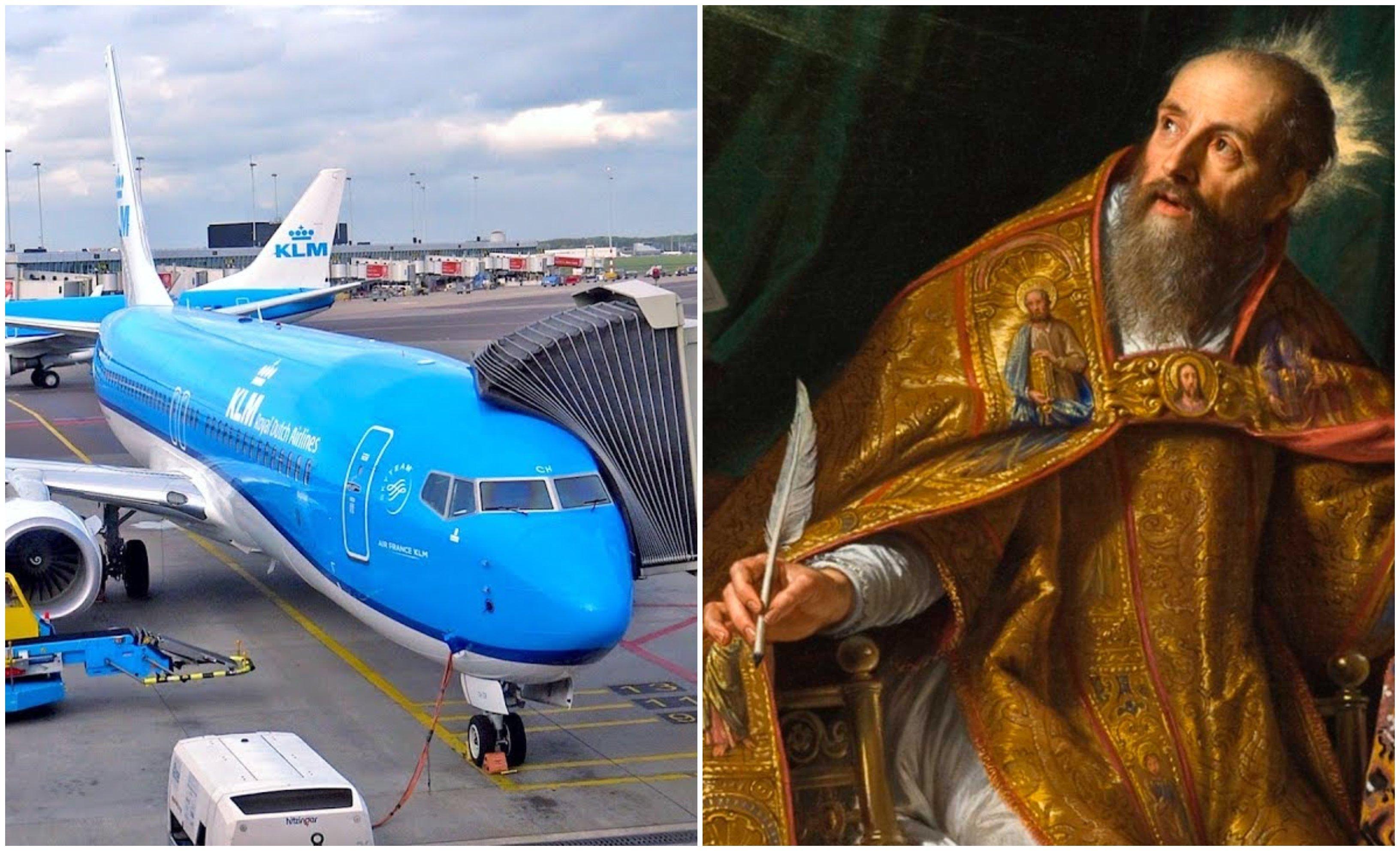 Me gusta más San Agustín que la aerolínea holandesa KLM y su suicidio masoca