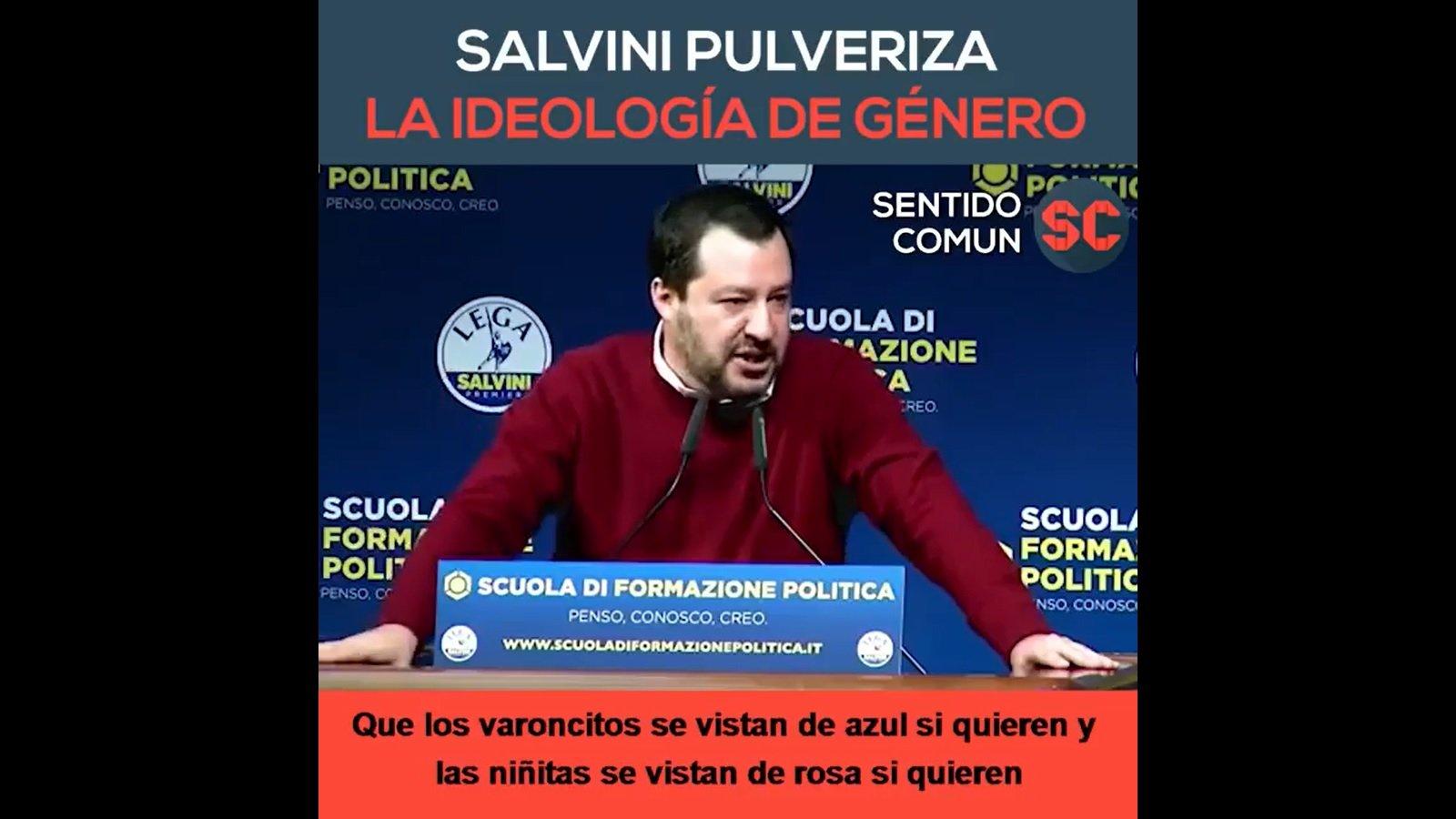 Salvini contra la ideología de género