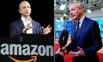Jeff Bezos, CEO de Amazon, y Bruno Le Maire, ministro de Economía y Finanzas galo