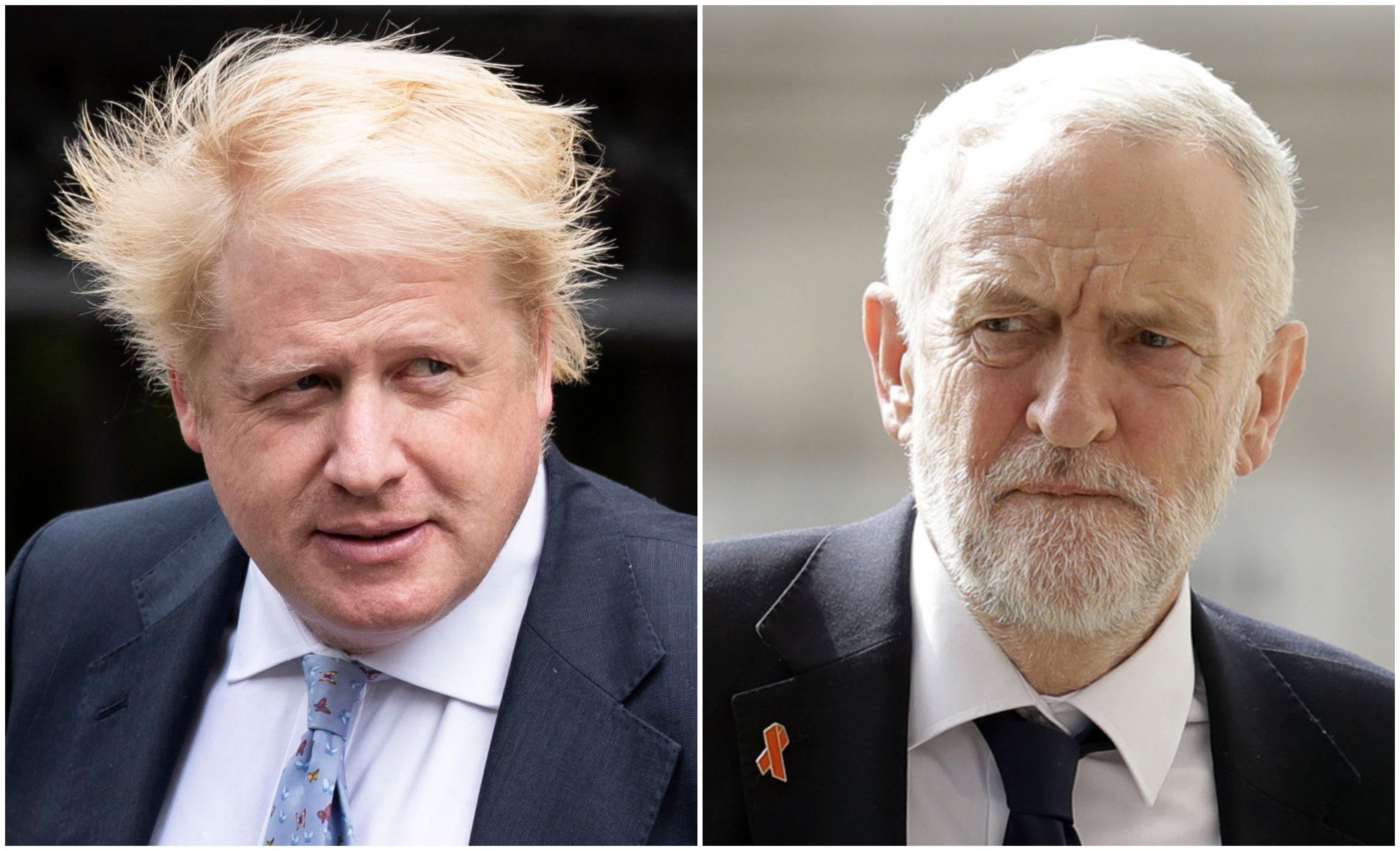 Elecciones en Reino Unido: Johnson y Corbyn