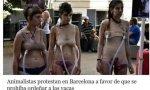 Animalistas protestan en Barcelona