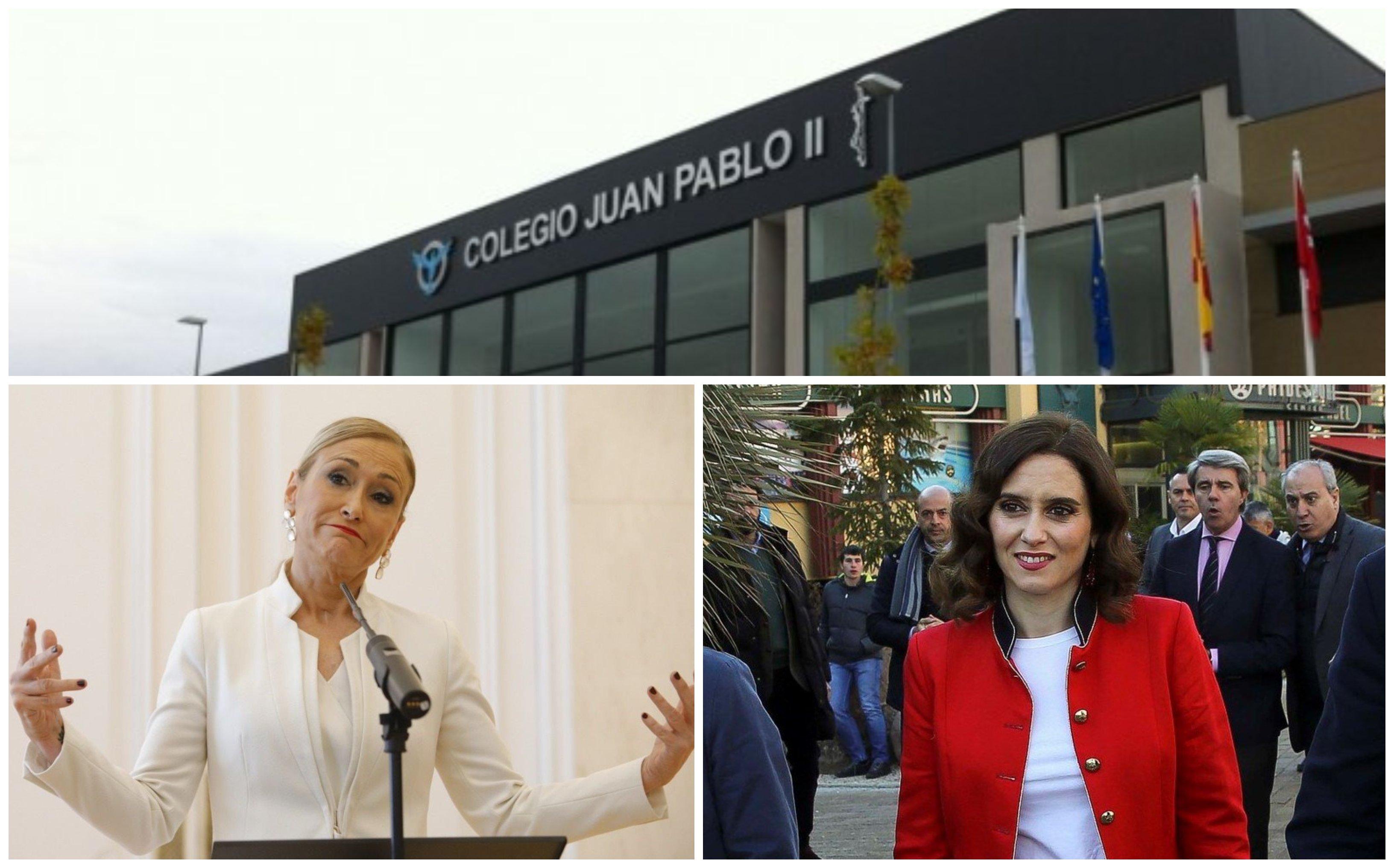 Isabel Díaz Ayuso se estrena con la ejecución de la sentencia que ordena devolver el importe de la sanción impuesta al colegio Juan Pablo II de Alcorcón