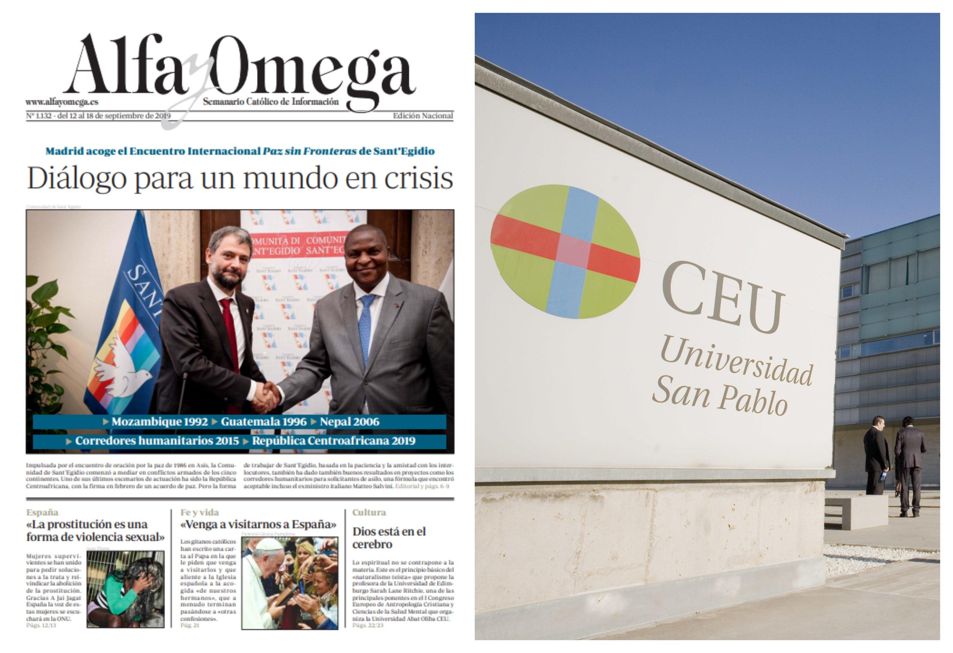 Portada de 'Alfa y Omega' y San Pablo CEU