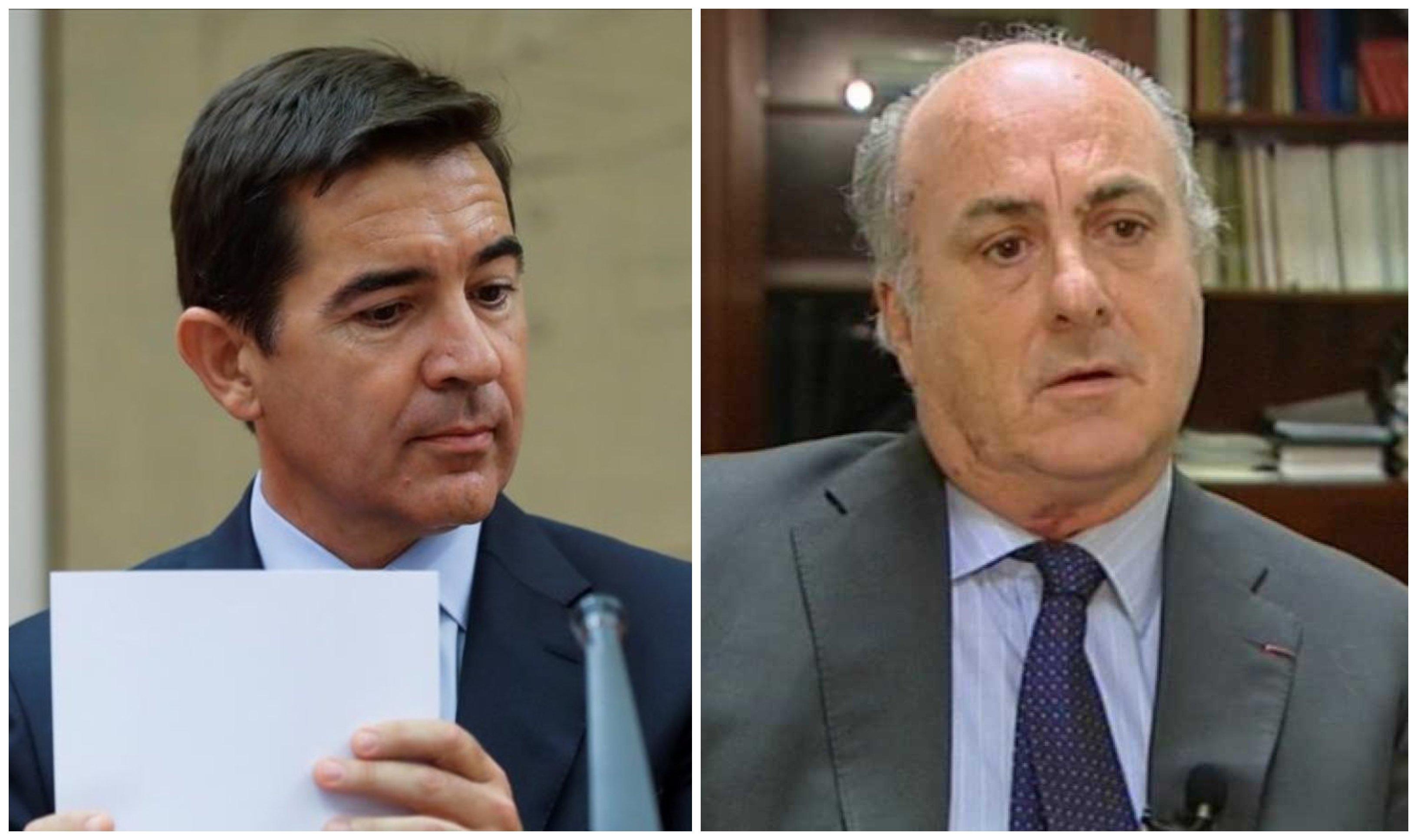 Carlos Torres y el juez Manuel García Castellón