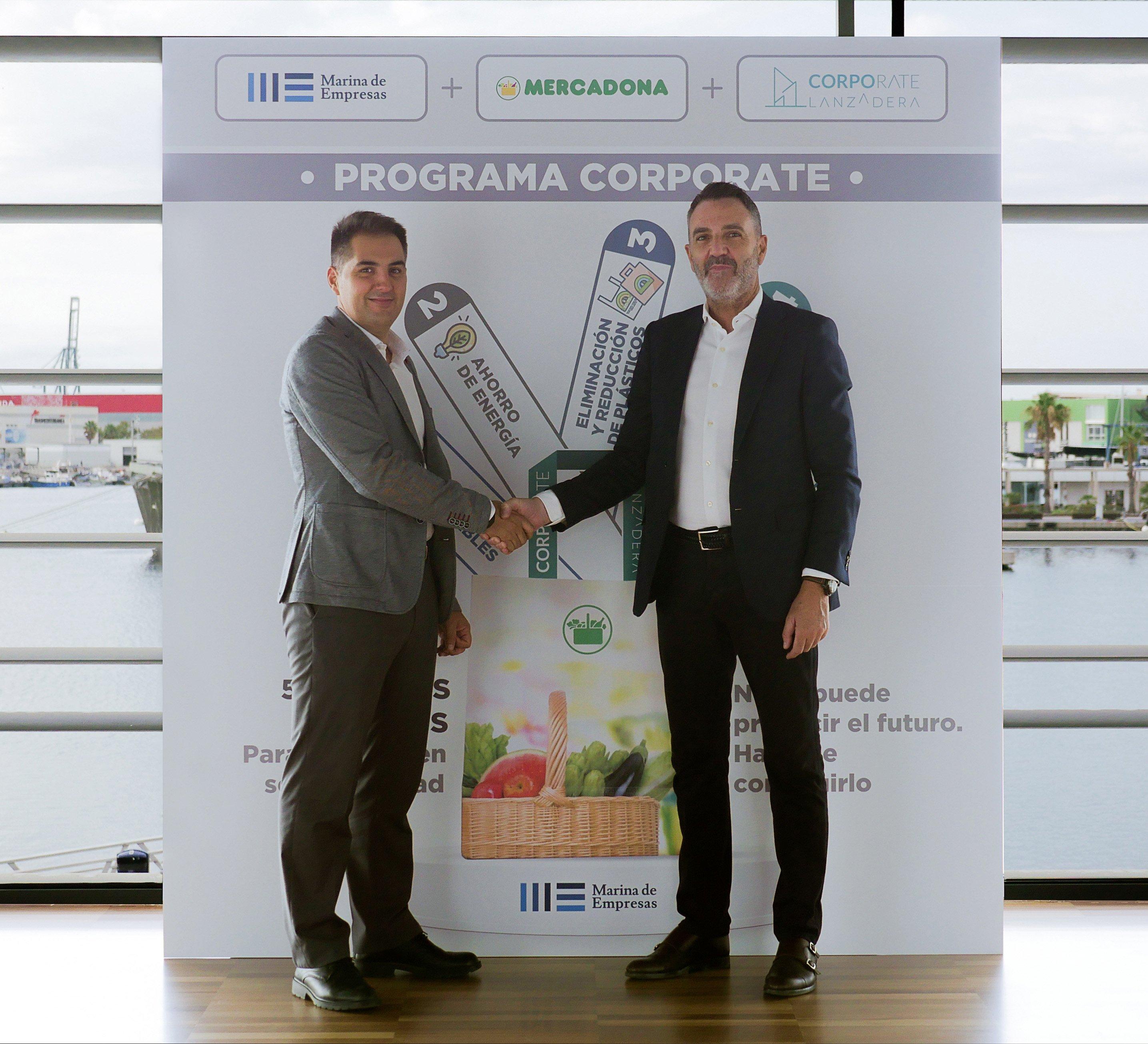Nichan Bakkalian, responsable de Organización de Mercadona, y Javier Jiménez, director general de Lanzadera