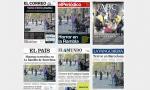Noticias de periódicos en papel