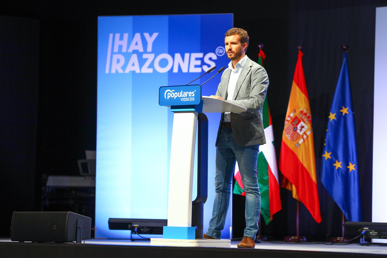 Pablo Casado interviene en la convención del PP vasco