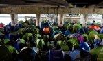 Campamento de migrantes en Francia