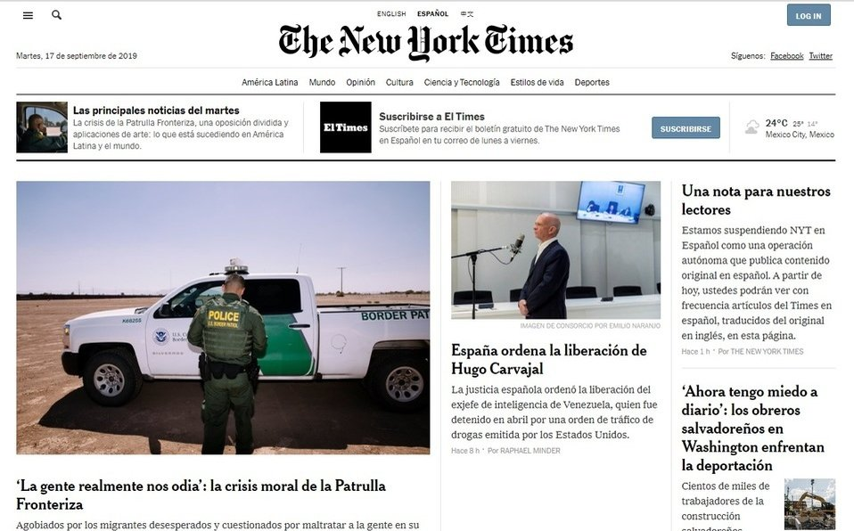 'The New York Times' en español