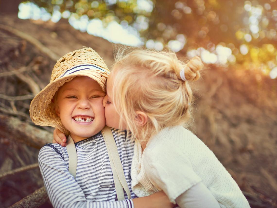El beso de un niño