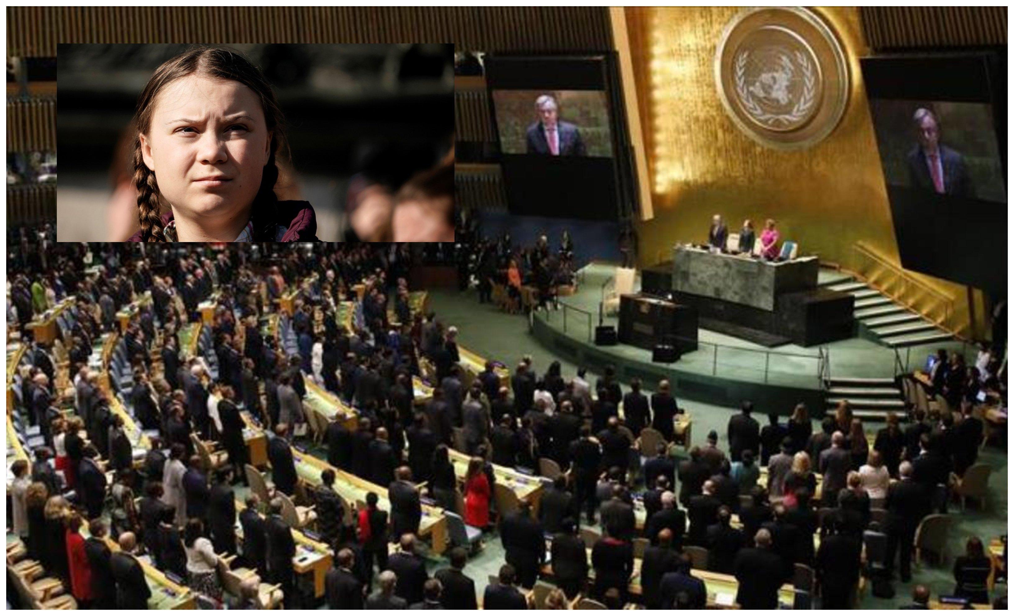 Greta en la ONU y el mundo en estado de histeria.