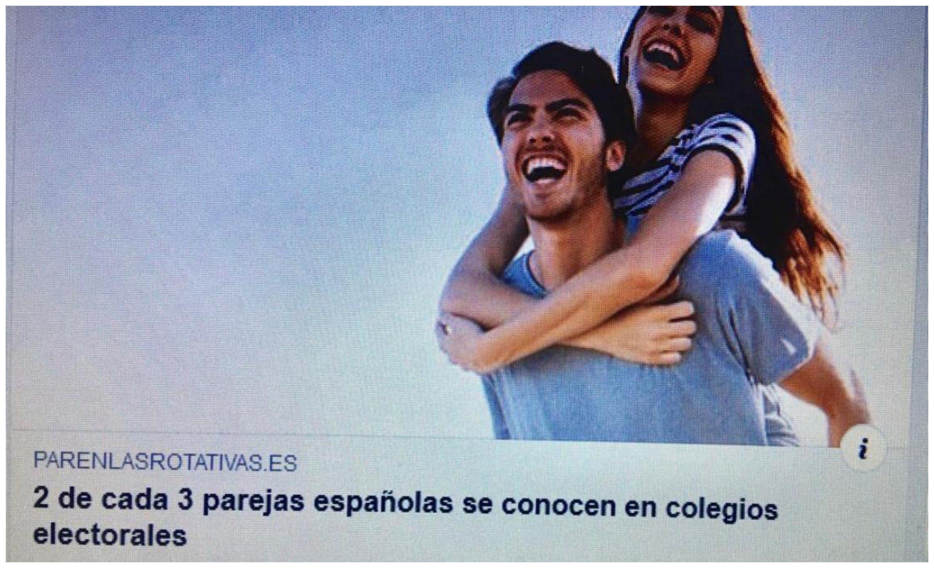 2 de cada 3 parejas españolas se conocen en los colegios electorales