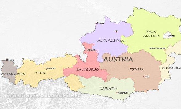 Mapa Politico De Austria.Austria Marca El Camino La Izquierda Se Convierte En Pro