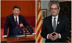 Xi Jinping y Quim Torra