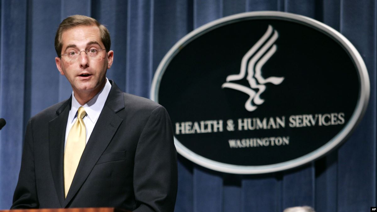 Alex Azar, secretario del Departamento de Salud y Servicios Humanos de los Estados Unidos