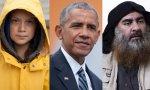 Greta Thunberg, Barack Obama y Abu Bakr al Bagdadi