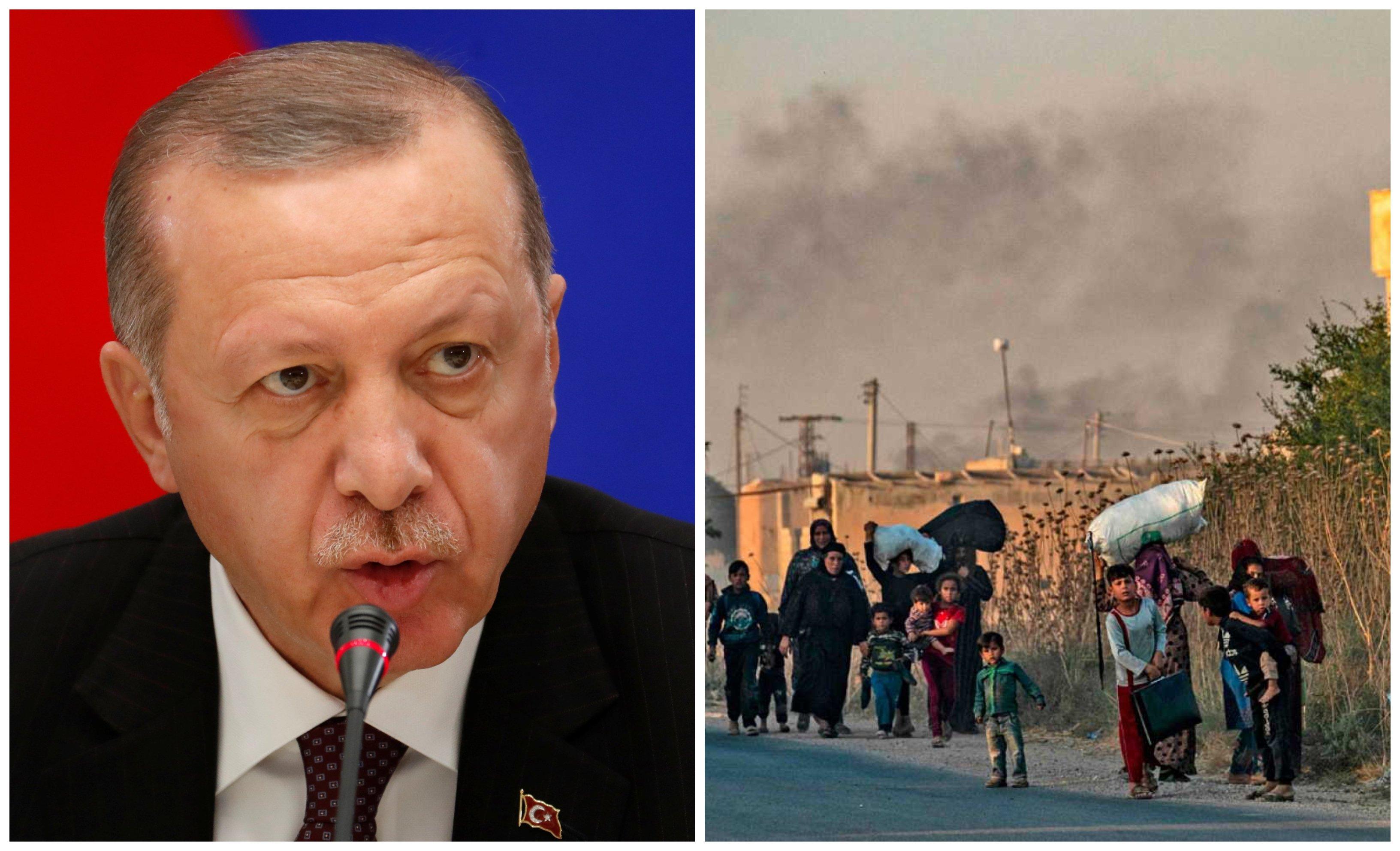 Siria. Muy fino el turco: Erdogan amenaza a Europa con soltar a los inmigrantes que tiene retenidos
