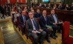 Los líderes independentistas acusados por el 'procés', en la sala del juicio del Tribunal Supremo.