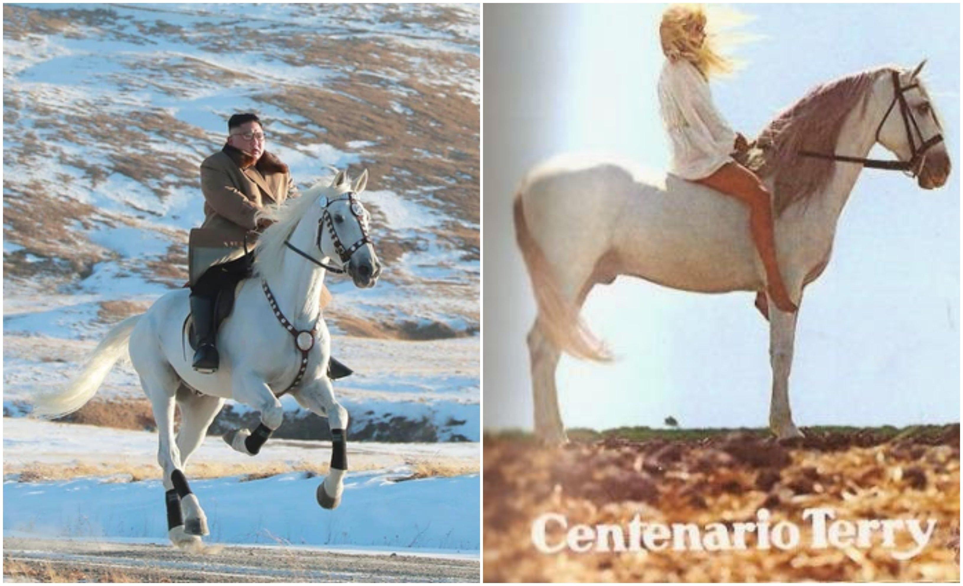 Kim Jong un galopando hacia nuevos horizontes... ahora quiere ser modelo como la chica 'Terry'