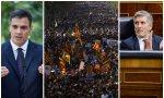 Sánchez, una manifestación en Cataluña, y Marlaska