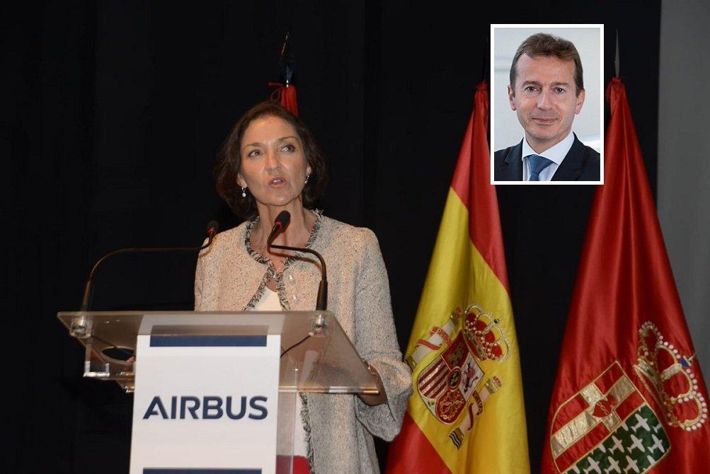 La ministra de Industria en funciones, Reyes Maroto, y el CEO de Airbus, Guillaume Faury