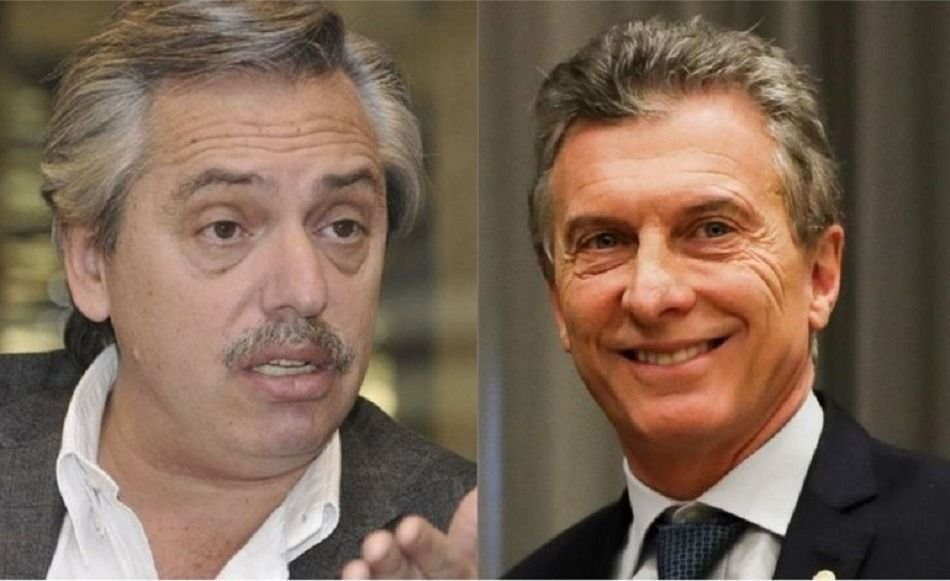 Alberto Fernández y Mauricio Macri
