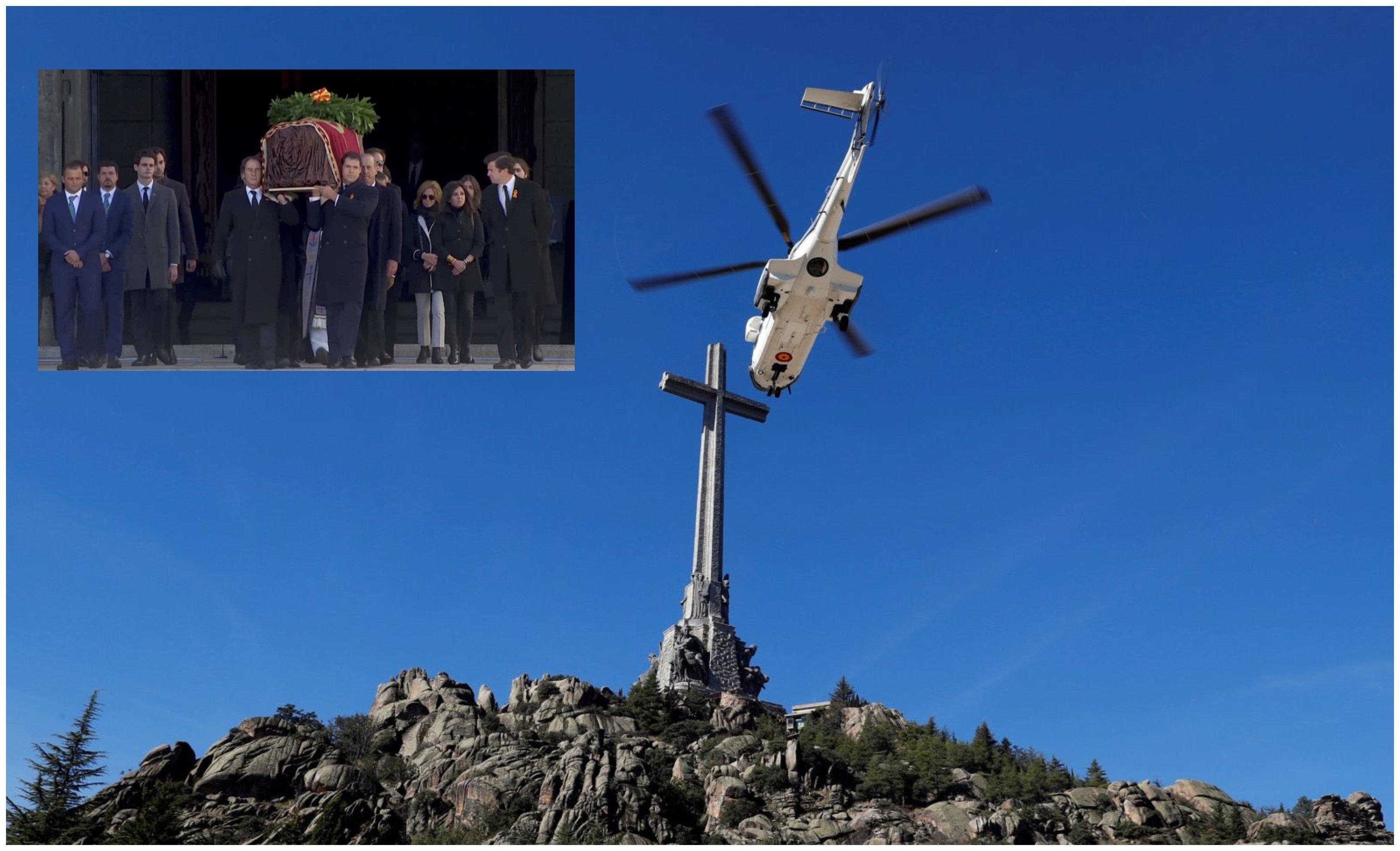 Exhumación de Franco: por el aire fue llevado a una tierra sagrada, escondida