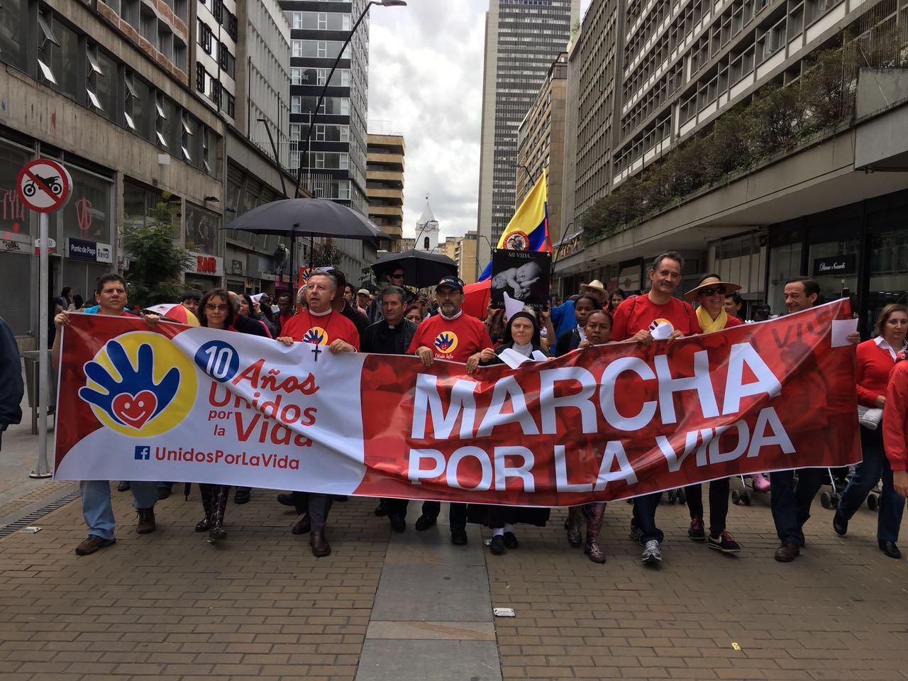 Marcha por la vida en Colombia