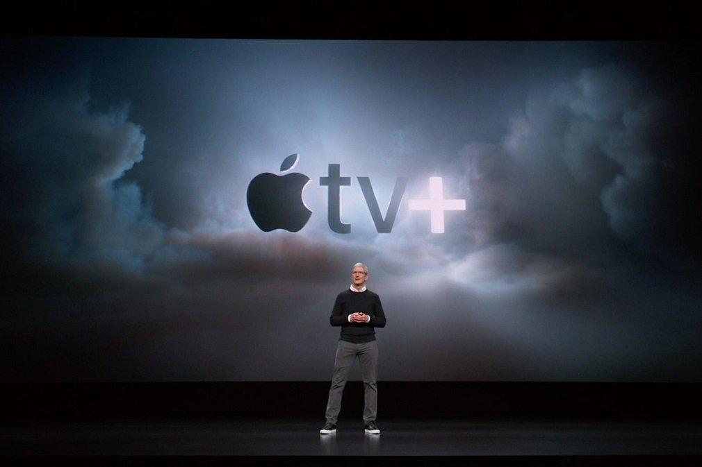 Tim Cook, CEO de Apple, en la presentación de la nueva plataforma de 'streaming' el pasado 10 de septiembre