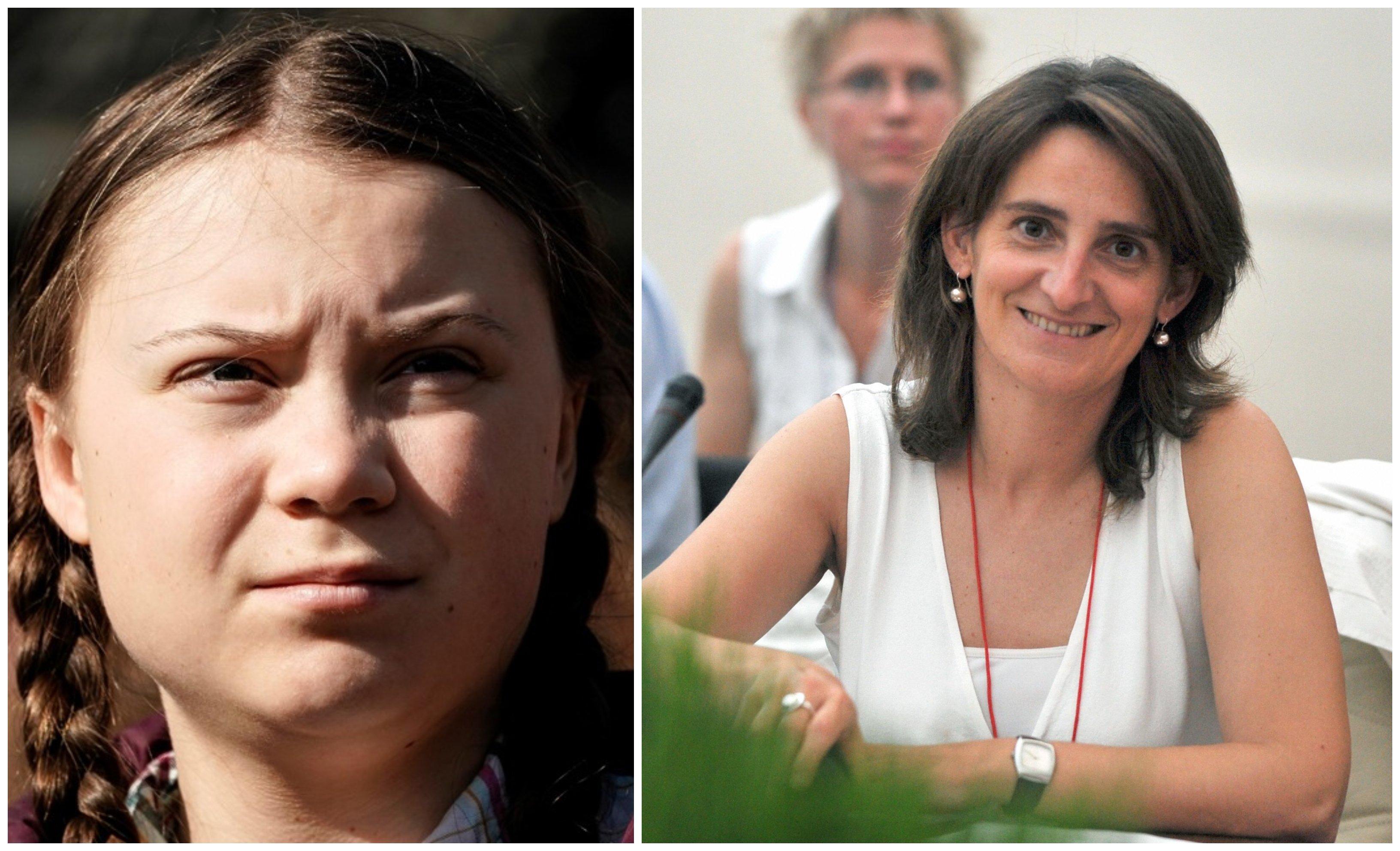 No te preocupes Greta, la ministra Teresa Ribera te ayudará a llegar a tiempo a la Conferencia sobre Cambio Climático de Madrid