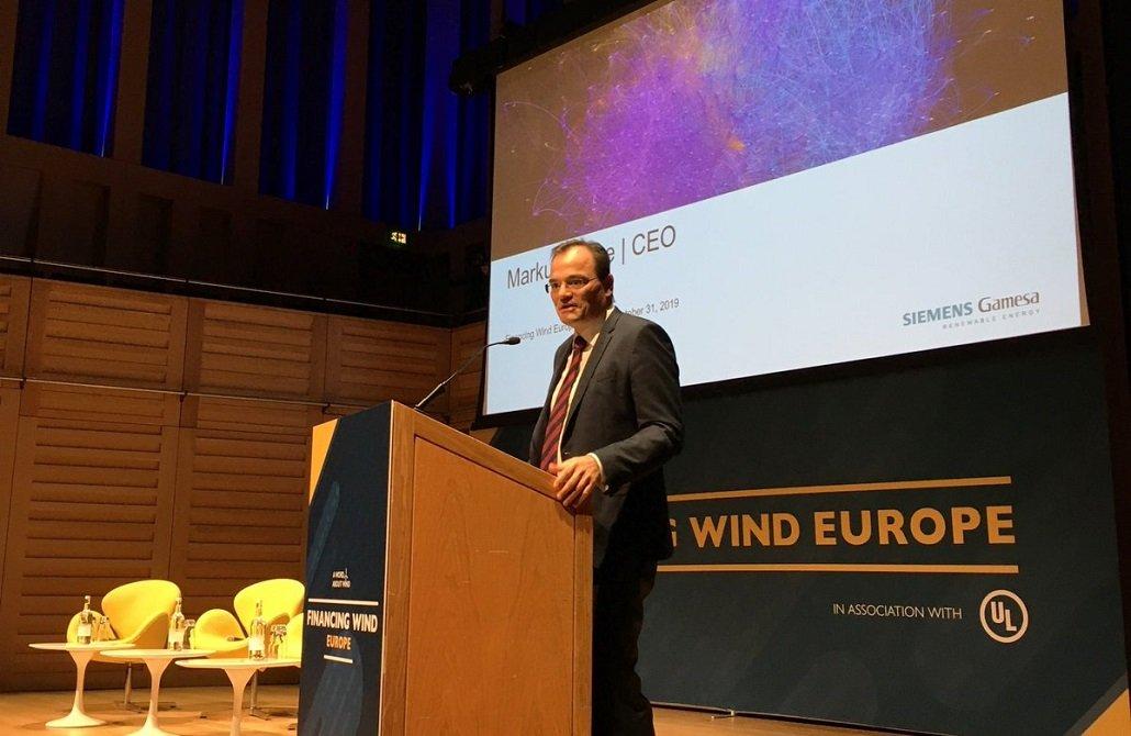 El alemán Markus Tacke, CEO de Siemens Gamesa