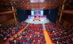 Éxito de asistencia a la Conferencia Internacional de Banca 2019, celebrada en el auditorio de la sede del Santander en la Ciudad Financiera de Boadilla del Monte, en Madrid