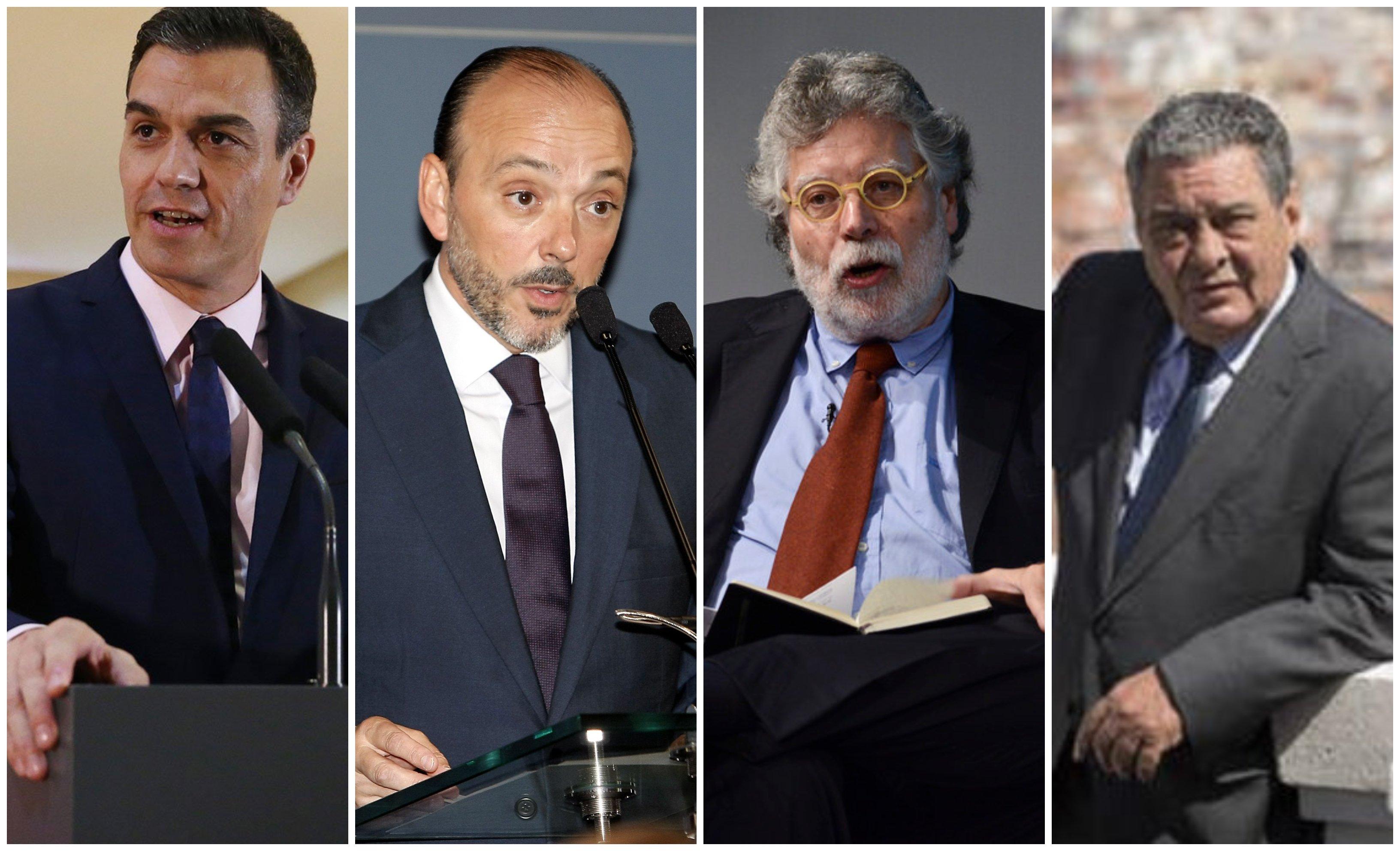 El 'task force' de Sánchez para ganar las elecciones: Javier Monzón, Joaquín Estefanía y Augusto Delkáder