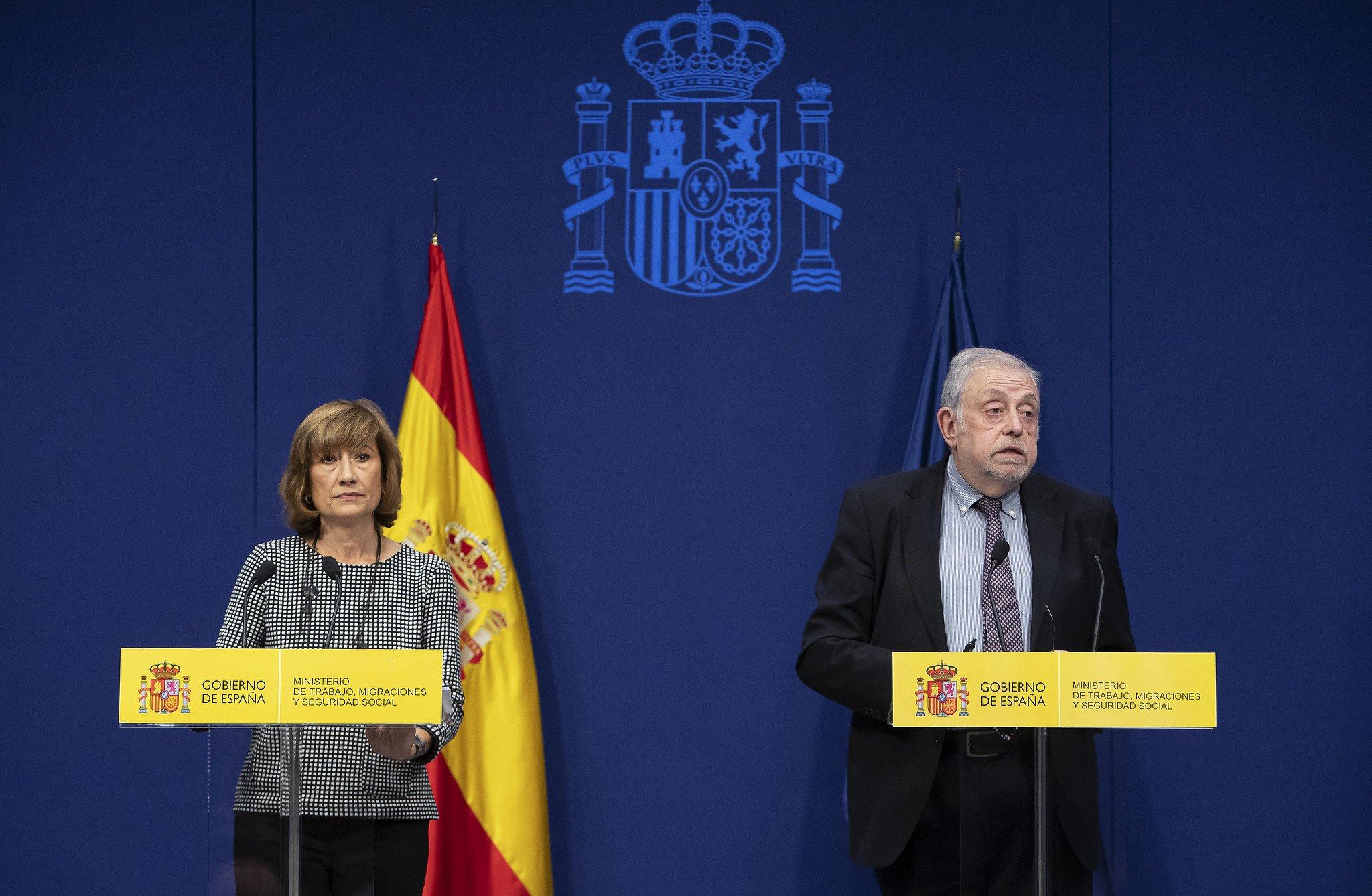 Octavio Granado, Secretario Estado Seguridad Social y Yolanda Valderrivas, Secretaria de Estado de Empleo