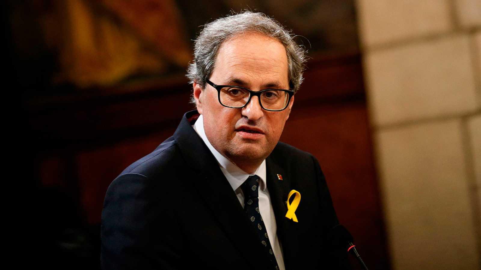 """El Parlament tramita el cese de Torra como diputado y este advierte de que """"pone en riesgo la legislatura y al Govern"""""""