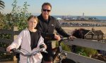 Schwarzenegger y greta en bicicleta