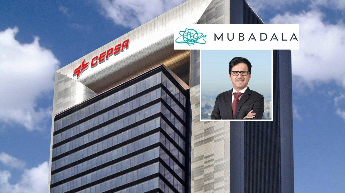 La sede de Cepsa en Madrid y el presidente de la compañía, el abudabí Musabbeh Al Kaabi