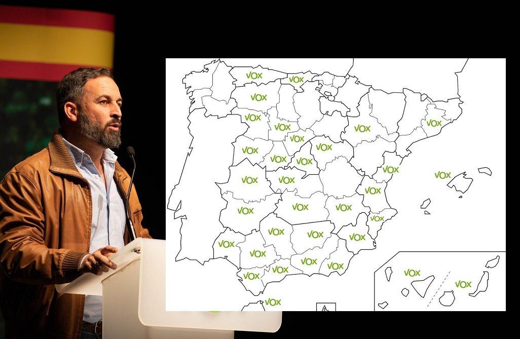 Abascal obtiene escaños en 32 provincias y 3.640.063 votos en todo el país