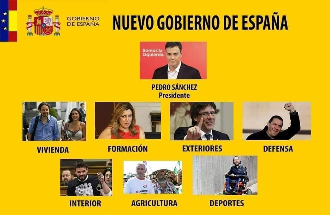 El nuevo gobierno de España según los tuits