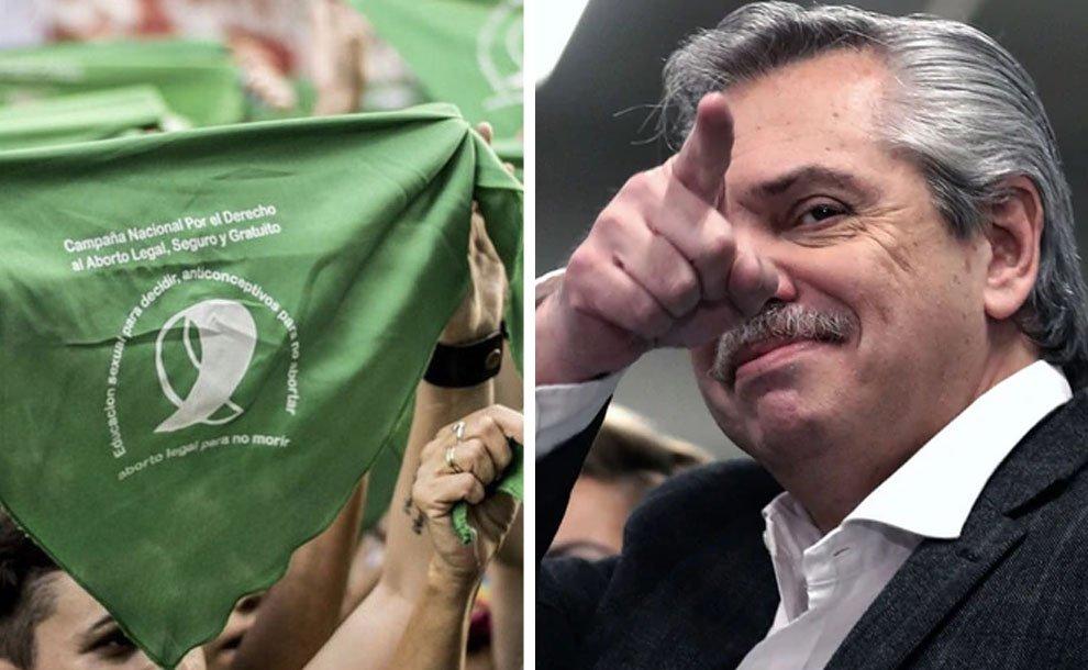 """Crece la pobreza en Argentina pero Alberto Fernández se obsesiona con legalizar el aborto """"cuanto antes"""""""