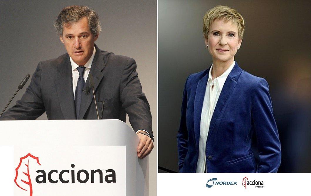 José Manuel Entrecanales, presidente de Acciona; y Susanne Klatten, una de los dos herederos de la familia Quandt