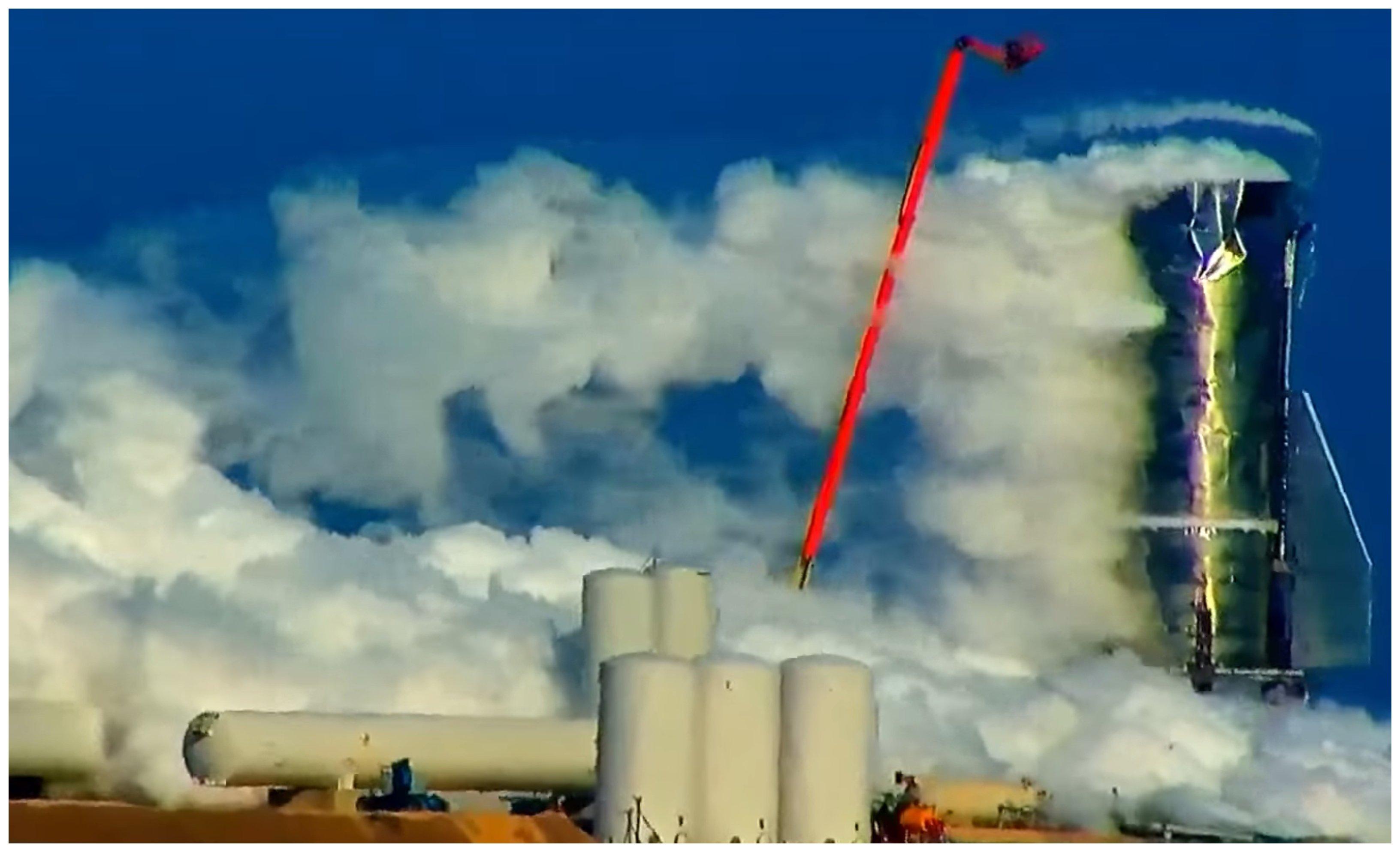 Explosión del Starship