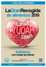 Gran Recogida de Alimentos de 2019 del 22 al 24 de noviembre