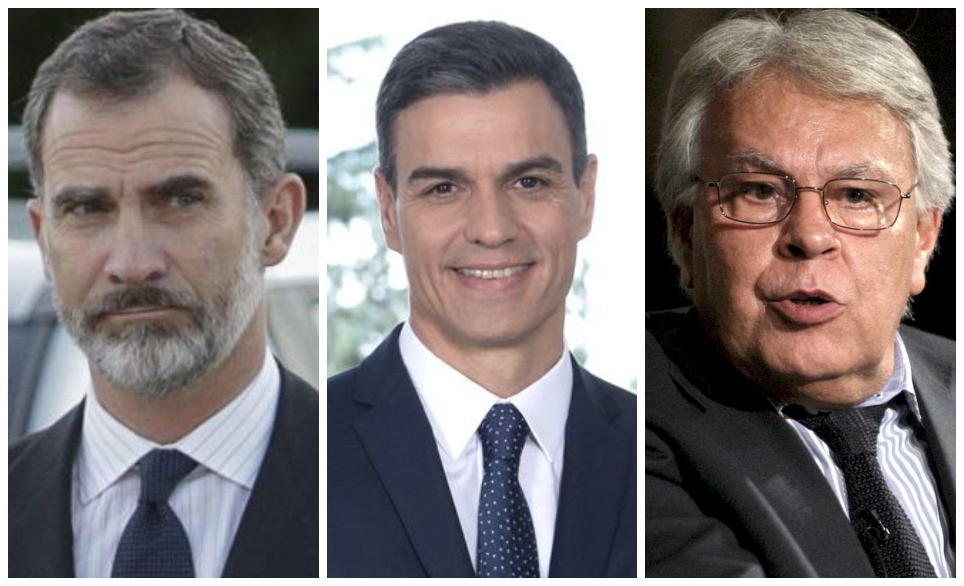 Felipe VI, Sánchez y Felipe González