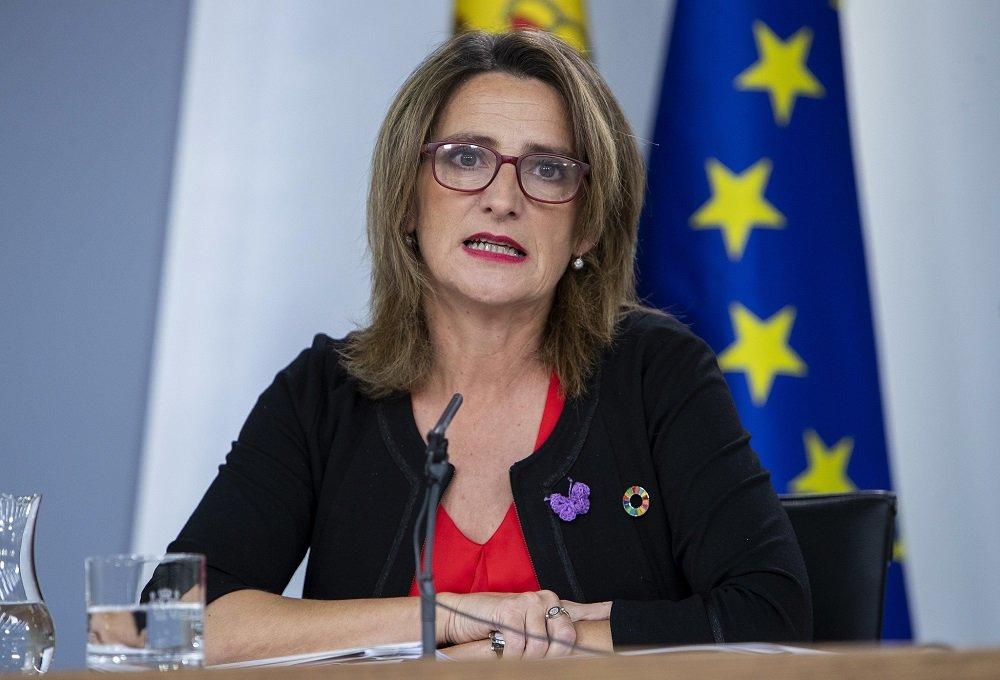 La vicepresidenta y ministra de Transición Ecológica, Teresa Ribera