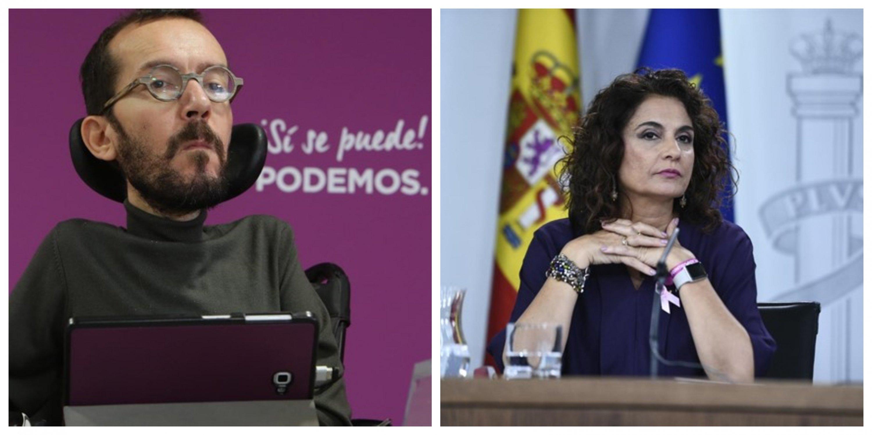 Pablo Echenique y Mª Jesus Montero negocian el programa de gobierno