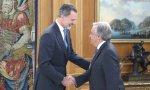 Encuentro el Rey el Secretario da las Naciones Unidas, Antonio Guterres, por la inauguración de la COP25