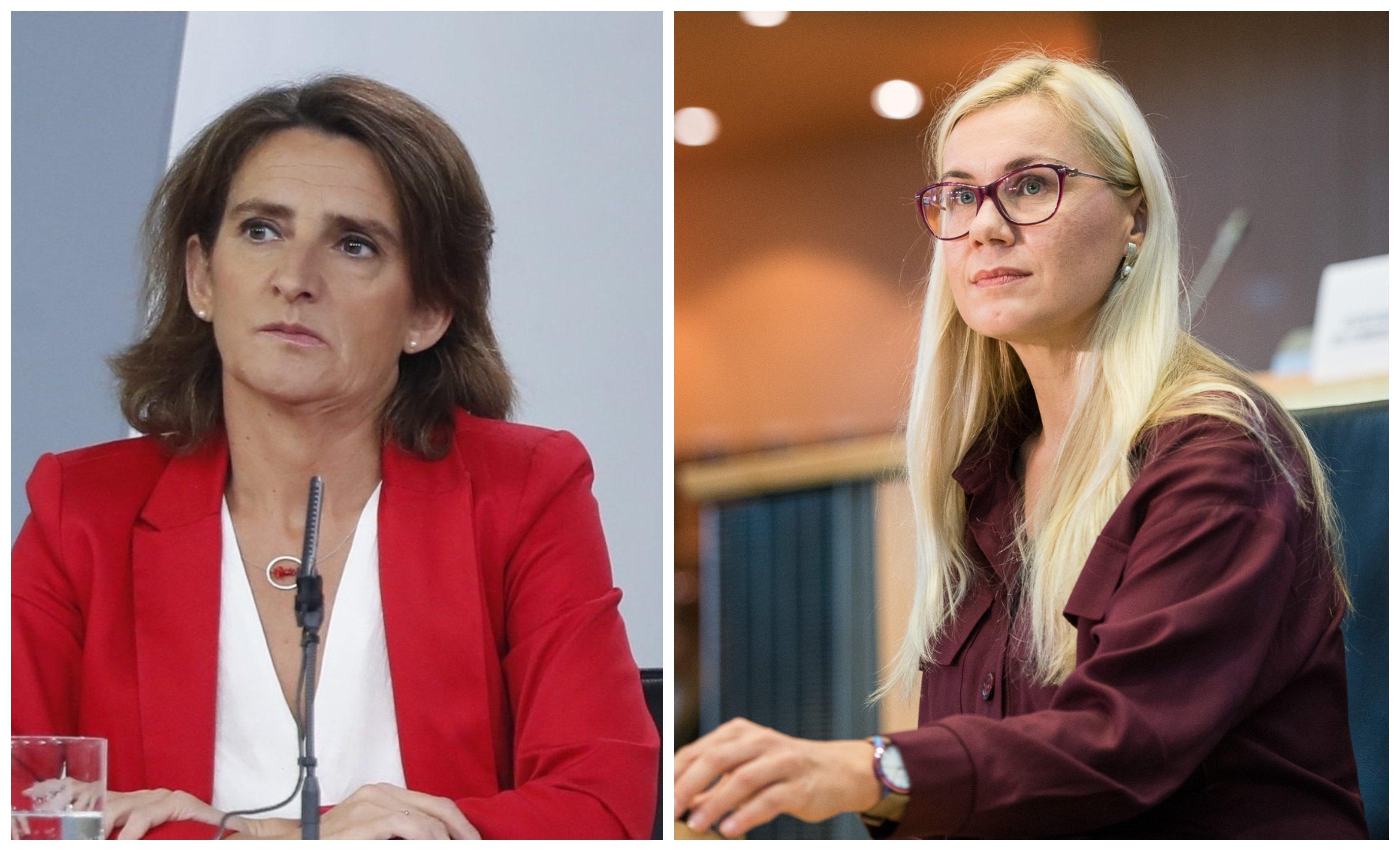 Teresa Ribera, ministra de Transición Ecológica y Kadri Simson, Comisaria de Energía de la UE
