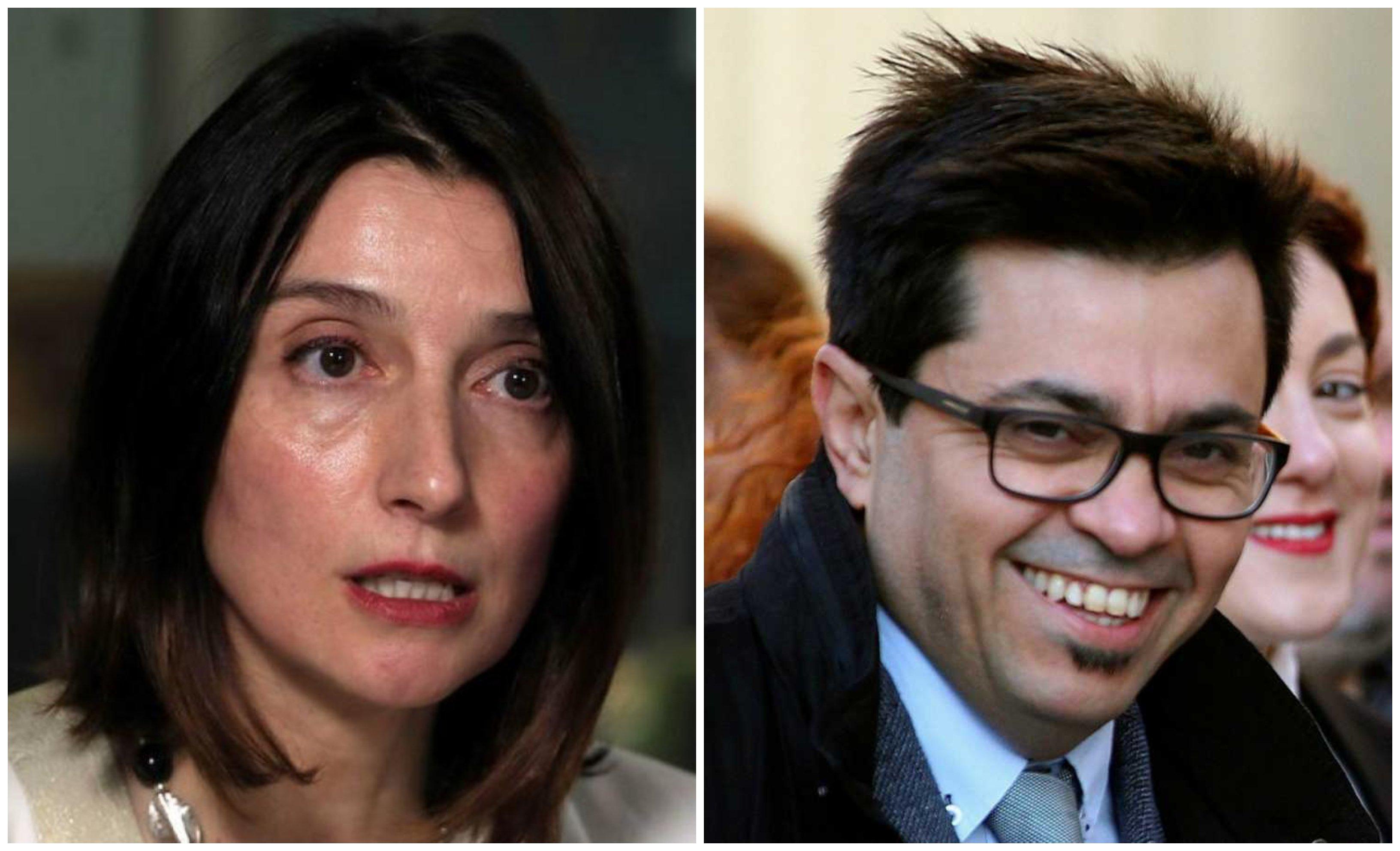 La presidenta del Senado, Pilar Llop y Gerardo Pisarello, secretario primero del Congreso de los Diputados