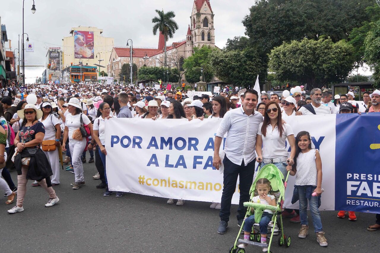 Marcha por la vida en Costa Rica